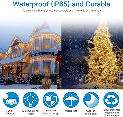 Solar String Lights,LDesign Solar Fairy Lights Outdoor 8 Modes Solar Christmas Lights [2 Pack] 72ft 200 LED Decoration for Garden, Wedding,Patio ,Home, Party