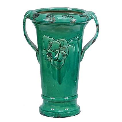 Amazon Crestview Collection Cevv0150 Ceramic Vase Handles Home