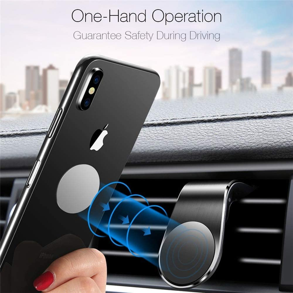 Lovebay 360 Metal Magnetic Car Phone Holder Stand for iPhone Samsung Xiaomi Car Air Vent Magnet Stand in Car GPS Mount Holder