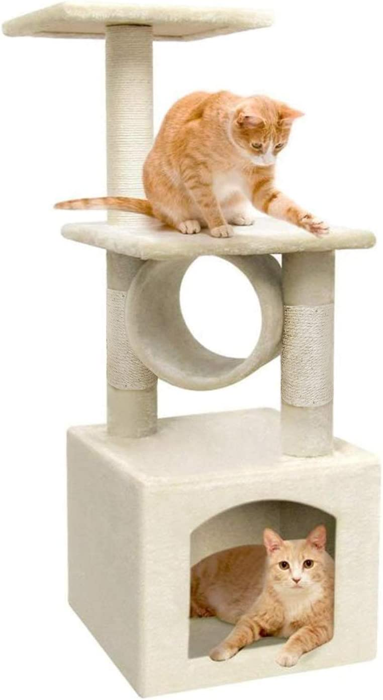 ARWEI Cat Tree Cat Tower Play House Cat Activity Condo Furniture with Scratching Posts for Kittens Pet