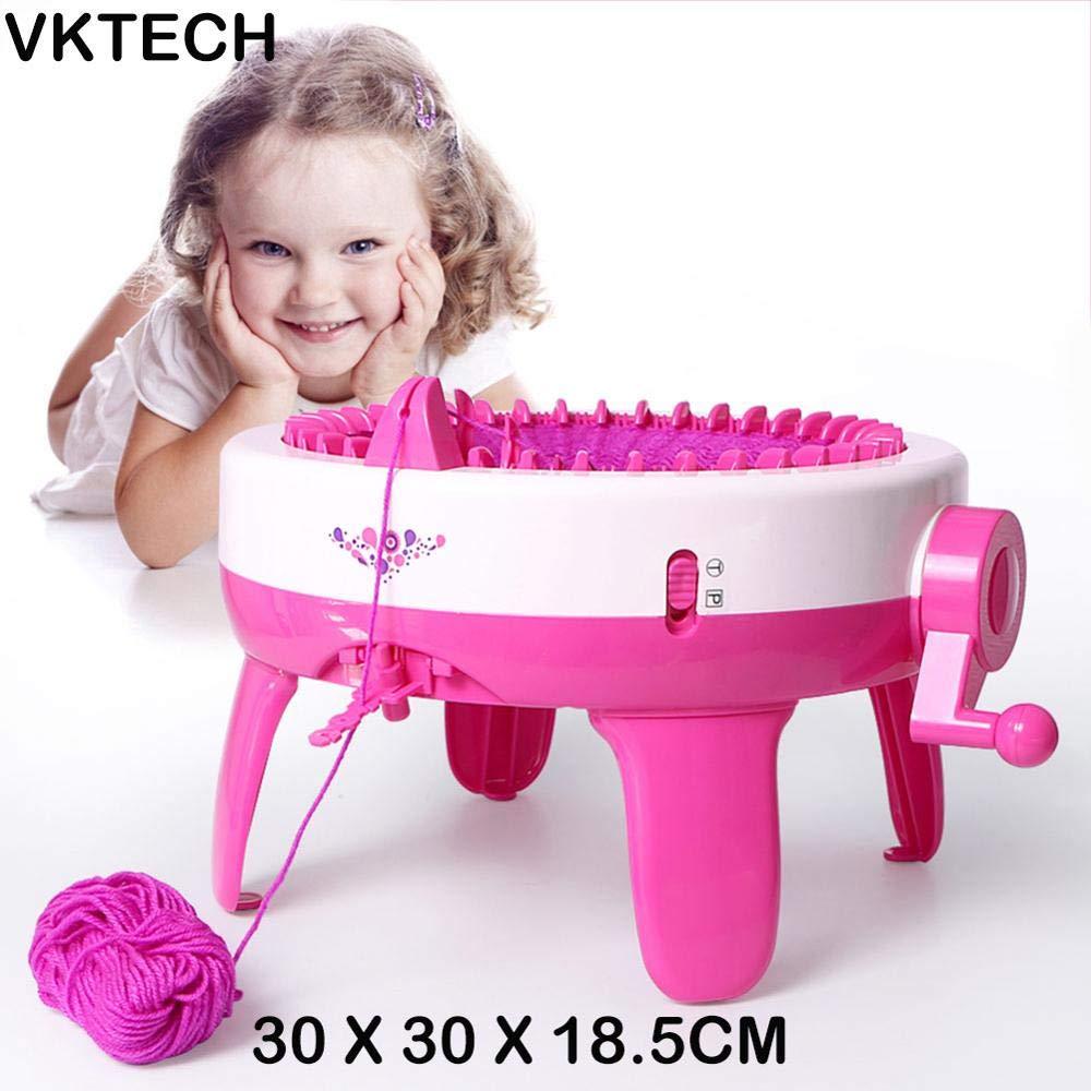 SavoyShop Childs Knitting Machine with Best Design, Plastic Kids Knitting Machine Toy DIY Girls Loom Playset Weaver Positions - Loom Knitting Machine, Circular Sock Machine, Kids Knitting Kit