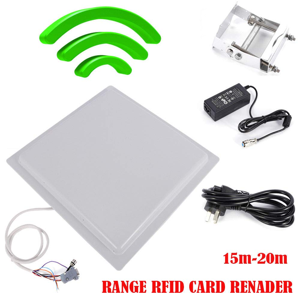 WUPYI UHF RFID Reader 15 m largo alcance 12 dbi antena RS232 ...