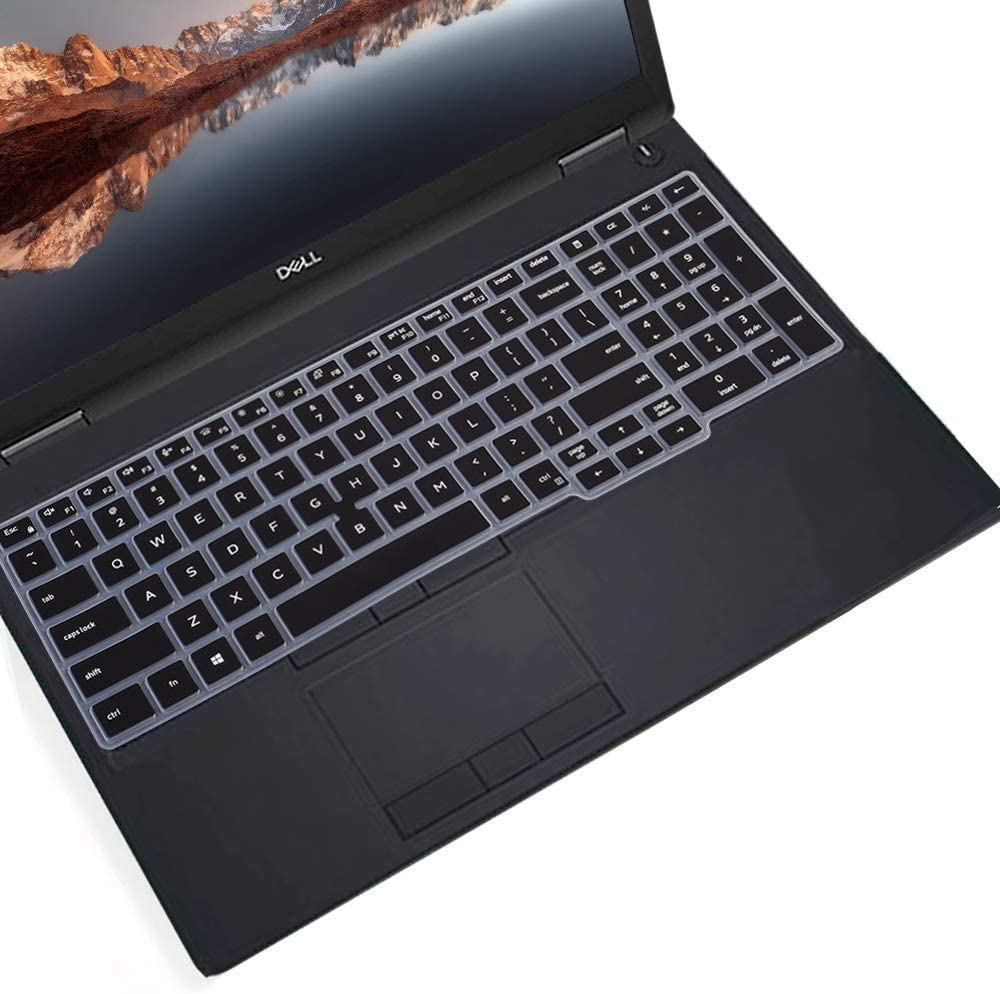 """CaseBuy Keyboard Cover for 15.6"""" Dell Latitude 5000 5500 5501 5510, Precision 3540 3541 Laptop(with Point), Dell Latitude 5000 5500 Accessories, Black"""