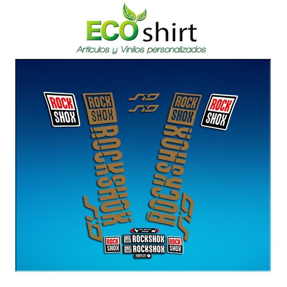 Oro Ecoshirt NZ-6RZI-MV26 Pegatinas Stickers Fork Rock Shox SID 2018 Am179 Aufkleber Decals Autocollants Adesivi Forcela