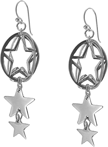 Long 925 Sterling Taxco Silver Double Drop Earrings in a Gift Box