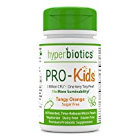 Hyperbiotics PRO-Kids - 60 Tiny Sugar Free Once Daily Time-Release Pearls for Kids...