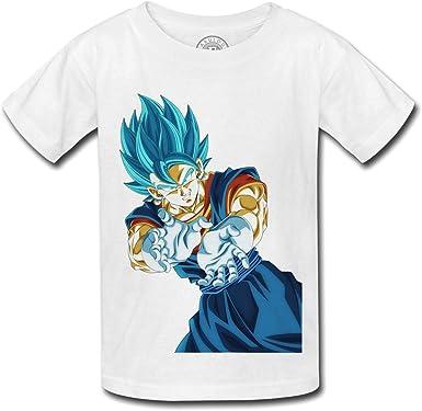 Camiseta para Niños Dragon Ball Super Vegeta Super Saiyan Azul de los pelos Kameha Anime Manga Japón: Amazon.es: Ropa y accesorios
