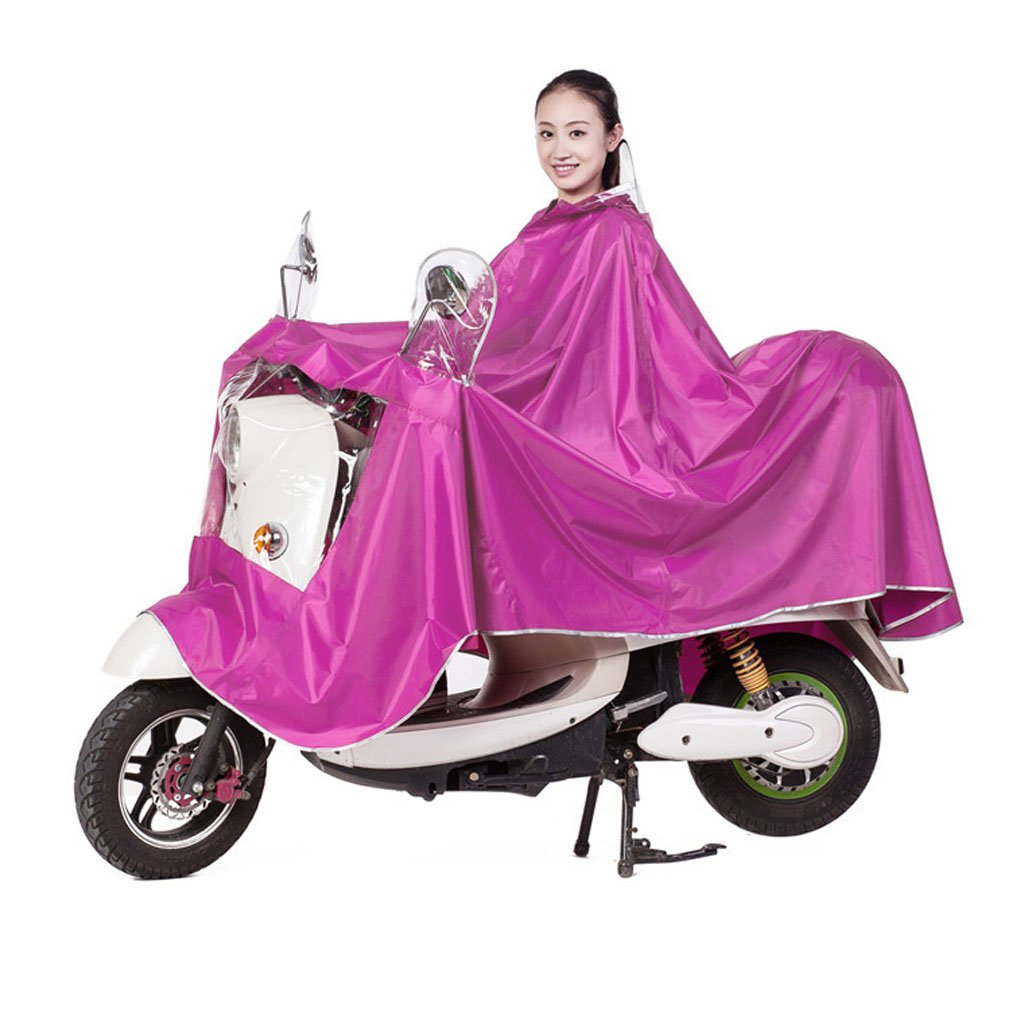 FakeFace High Quality Extra Large Lengthen Windproof Waterproof Motorcycle Scooter Rain Hoodie Coat Women Men Big Raincoat Cover Cape Poncho Rainwear Full Protection with Visor and Storage Bag Baixt Group Limited