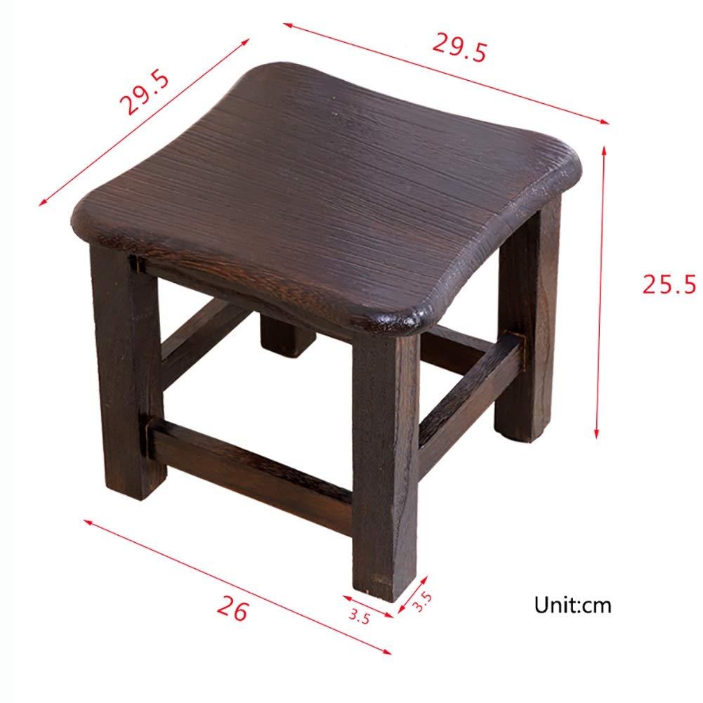 WYDM Tabouret bas en bois massif Petits tabourets carr/és Change de chaussure Banc Tabouret Table basse Couleur : #2