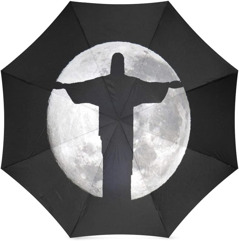 foldable Umbrella Custom Jesus Compact Travel Windproof Rainproof