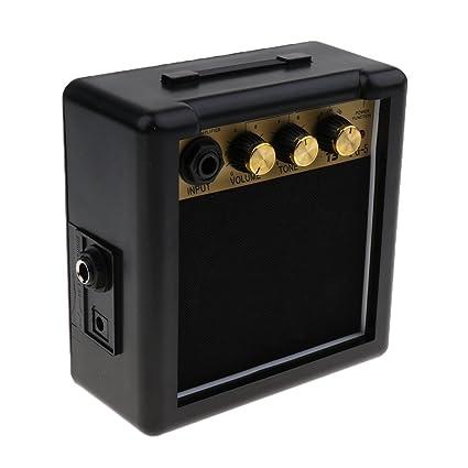 MagiDeal Mini Portátil 5w 9v Guitarra Eléctrica Práctica Amp Amplificador Altavoz Partes