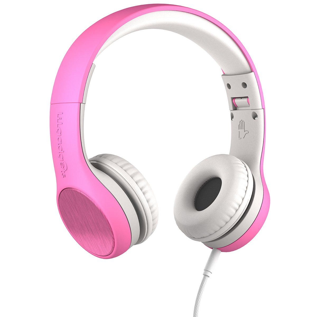 New! LilGadgets Connect+ Style Premium Volume Limited Wired Headphones with SharePort for Children/Kids (Pink)