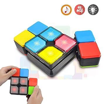 Regalos para 6-12 Años Muchachos Chicas Joy-Fun Cubo de Rubik Velocidad Cubo Mágico 4 Modos Música Electrónica Juguetes para Adolescentes Rompecabezas ...