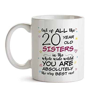 20th Sister Birthday Gift Mug