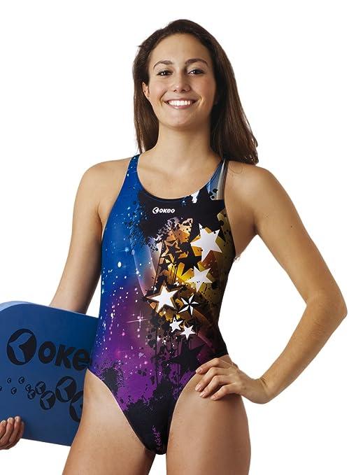 351bf5e6ed34 Okeo -CARLA- Costume intero donna per piscina; SLIM FIT; tg 48 ...