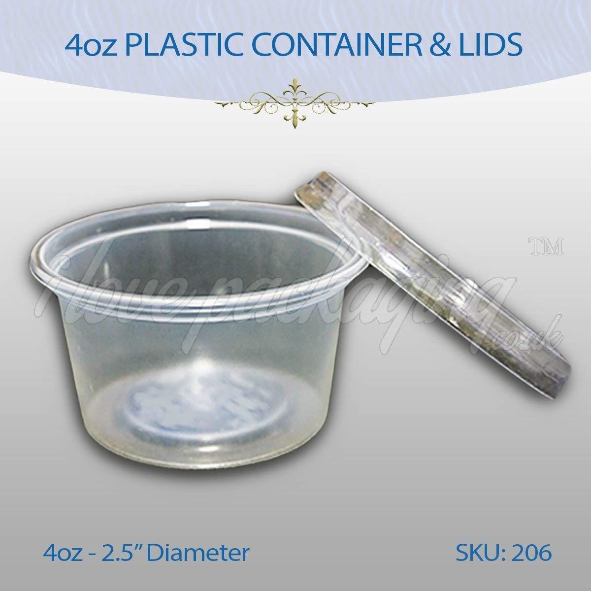 12 x SATCO Round Plastic Food Storage Container Pots /& Lids Deli-Pots Sauce Tubs