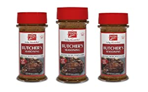 Amazing Taste Butcher's Seasoning Shaker Bundle, for Steaks, Tri-Tips, Roast & Chops wit a savory herb blend.