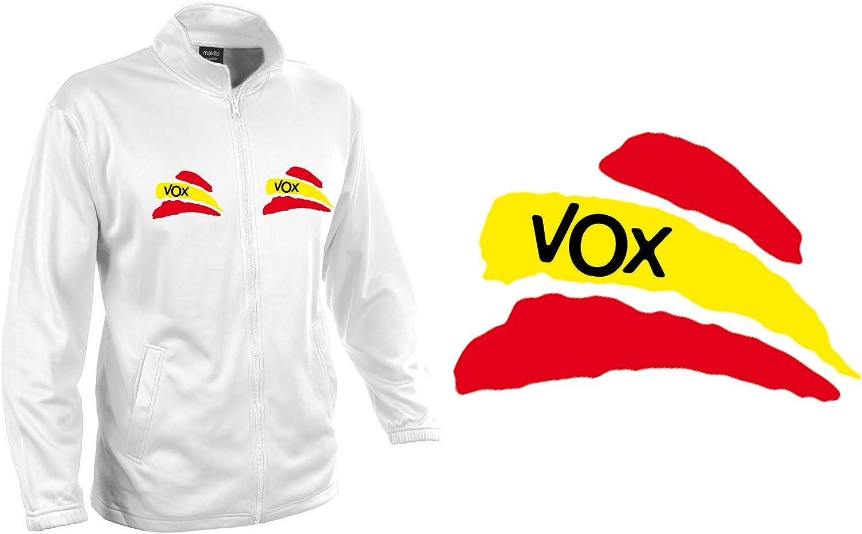 MERCHANDMANIA Chaqueta Tecnica 2 Dibujos Partido VOX Bandera ESPAÑOLA Jacket: Amazon.es: Ropa y accesorios