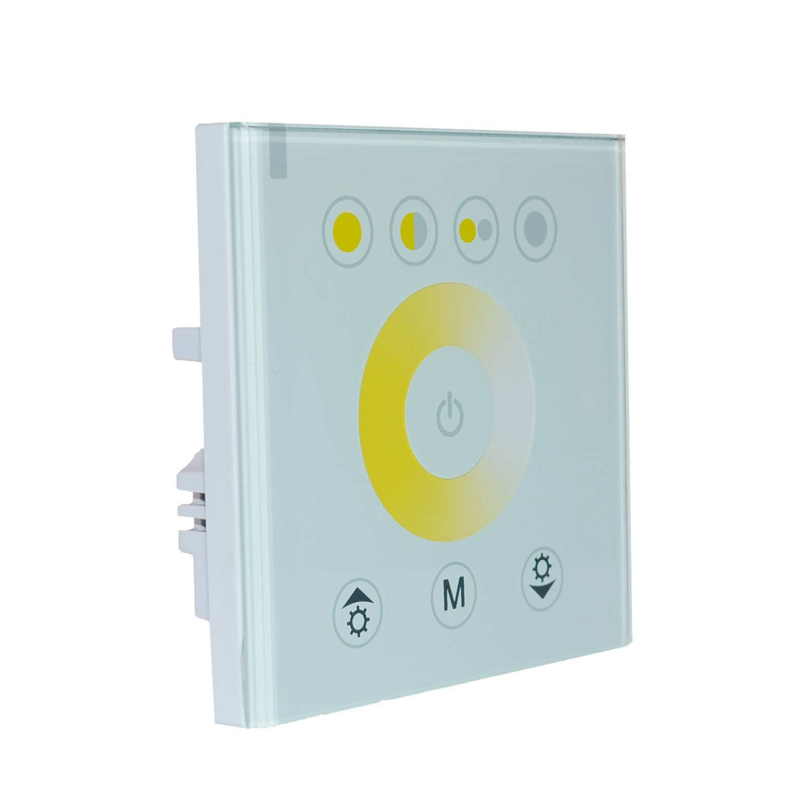 Led Strip Dimmer Controller,Wall-Mounted Touch Panel Switch Color Temperature Changing Adjustable,Glass Surface VS Plastic Screen Higher Sensitivity