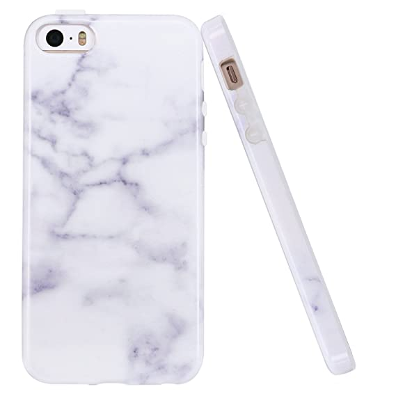 the best attitude 38c47 5a449 LUOLNH iPhone 5 Case,iPhone 5S Case, IMD Design Marble Pattern Anti-slip  Shockproof Clear Bumper TPU Soft Case Rubber Silicone Skin Cover Case for  ...