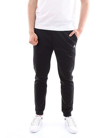 Le Coq Sportif Pantalon Essentiels Tapered Noir  Amazon.fr ... 7c58ef89c2a6