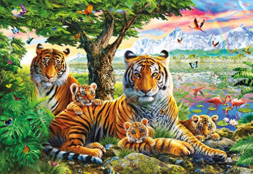 Buffalo Games - Hidden Tigers - 2000 Piece Jigsaw Puzzle with Hidden Images