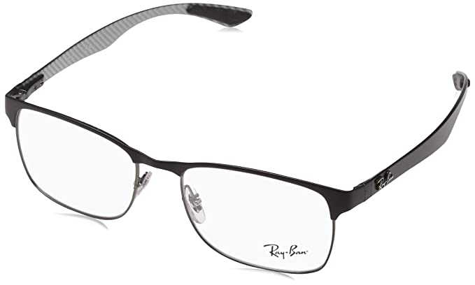 35ed9b28d5 Ray Ban RX8416 Black Clear Lens Eyeglasses  Amazon.ca  Clothing ...