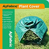 Agfabric Plant Cover Warm Worth Frost Blanket - 1.5 oz Fabric of 96''Hx108''W Shrub Jacket,Rectangle Plant Cover with zipper for Season Extension&Frost Protection,Dark Green