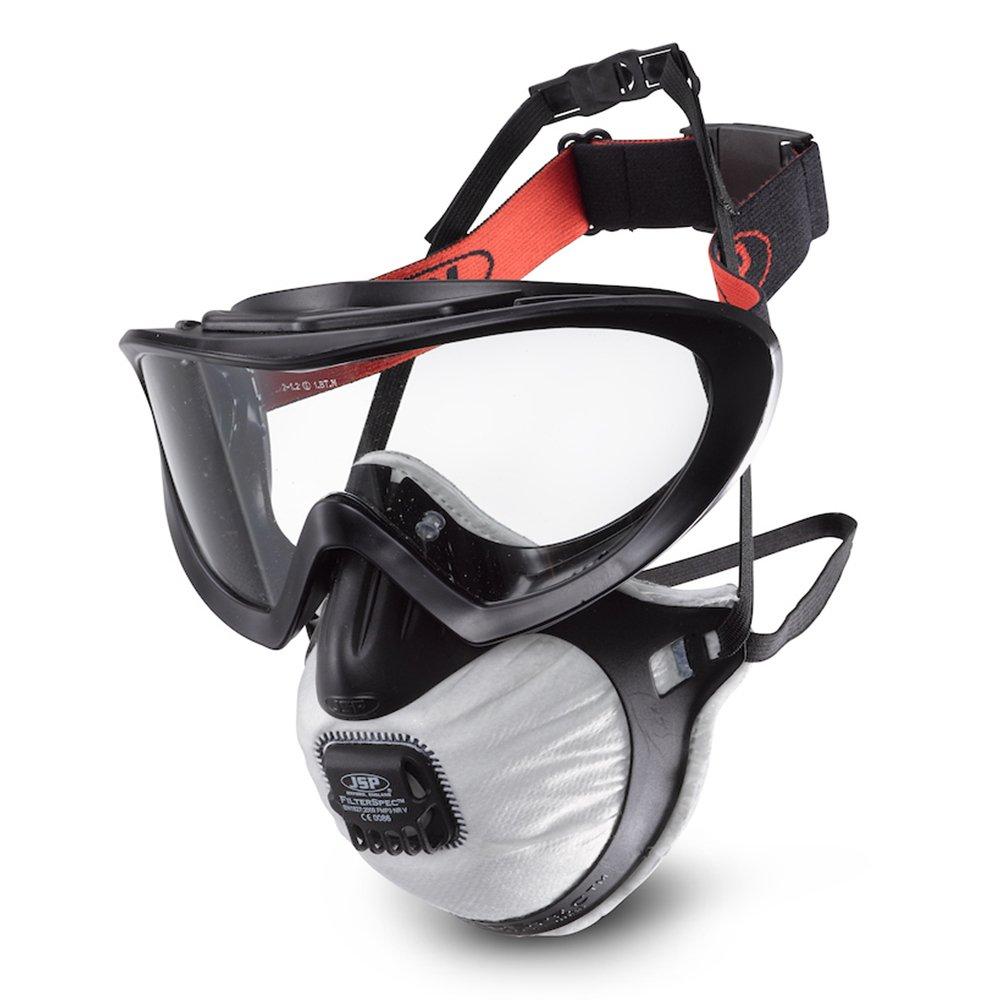 JSP FilterSpec Pro P2V Particulate Half-mask w/Safety Goggles