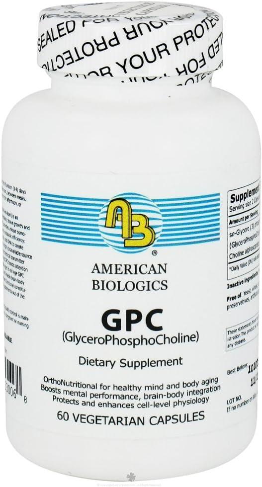 American Biologics – GPC GlyceroPhosphoCholine 300mg 60caps