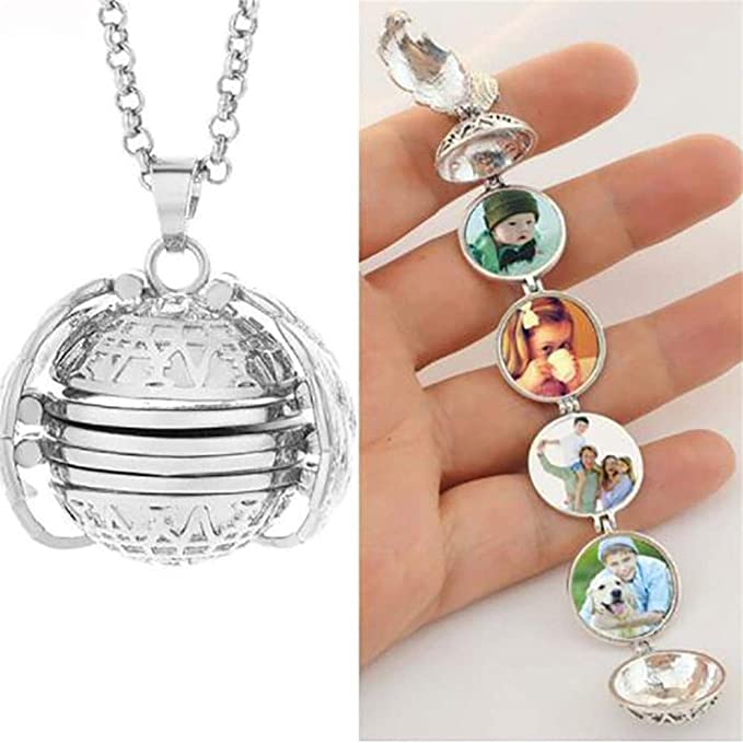 FANEO Fashion Expanding Photo Locket Photo Box Necklace Pendant Long Chain Lover Gifts Pendant Necklaces