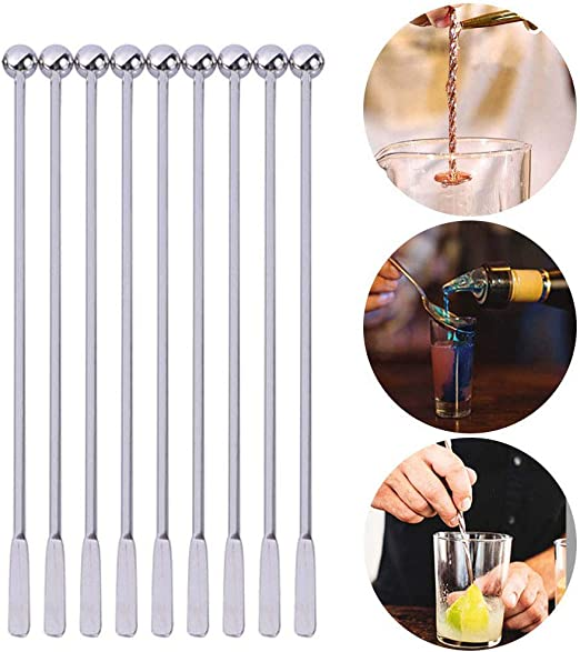 Stainless Steel Coffee Beverage Stirrer Stir Cocktail Drink Swizzle Stick A