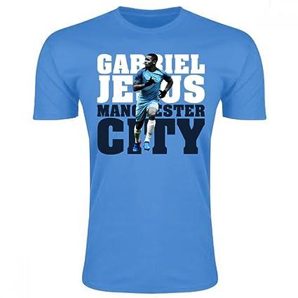577c1cfa056 Amazon.com : UKSoccershop Gabriel Jesus Man City T-Shirt (Sky) : Sports &  Outdoors