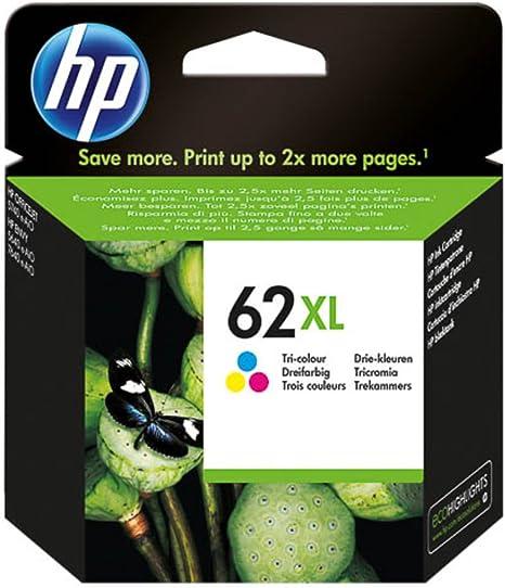 HP Original - HP - Hewlett Packard Envy 5540 e-All-in-One(62XL/C 2 P 07 AE) - cabezal de impresión (cian, magenta, amarillo) - 415 páginas: Amazon.es: Informática