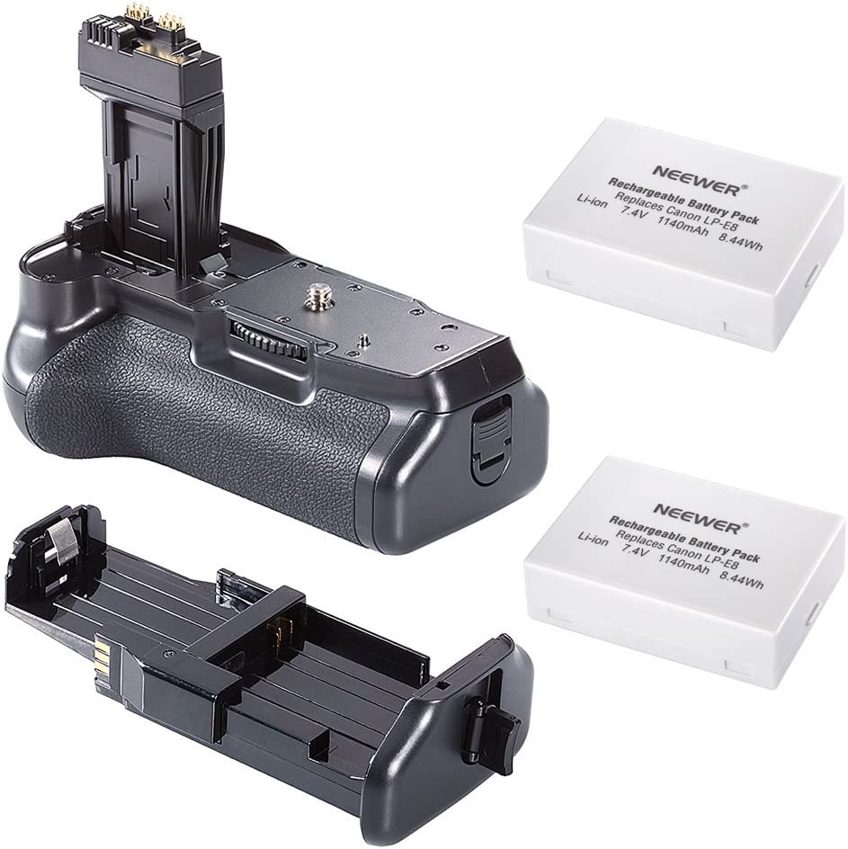 Neewer Pro Battery Grip Battery Grip For Canon Eos 550d 600d 650d 700d Rebel T2i T3i T4i T5i Slr Digital Camera Kit Includes 1x Bg E8 Battery Grip 2x Lp E8 Lithium Ion Battery Küche Haushalt