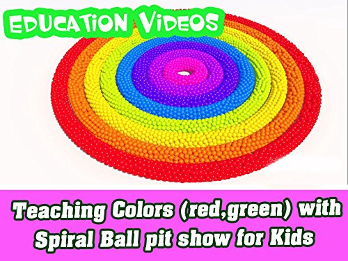 Early Lessons - Teaching Colors (red,green) with Spiral Ball pit show for Kids