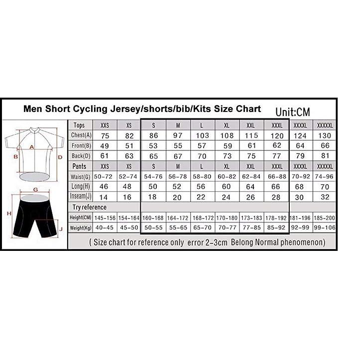 Hombres de Secado rápido de Manga Corta Ciclismo Jersey ...