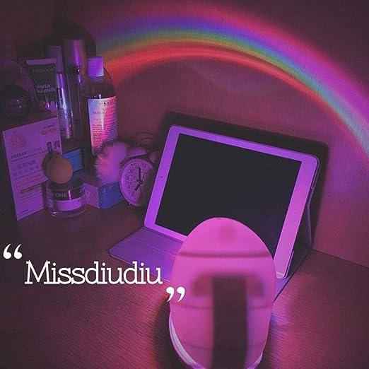 Luz Colorida de la Noche del Arco Iris del LED Lámpara romántica ...