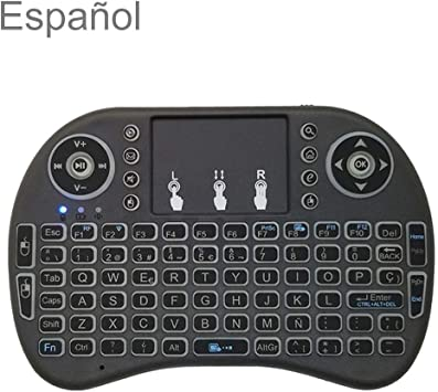 FENSHIX Soporte de Idiomas: español i8 Teclado Air Mouse inalámbrico con touchpad for Android TV Box y Smart TV y Tablet PC y Xbox360 y PS3 y HTPC/IPTV: Amazon.es: Electrónica