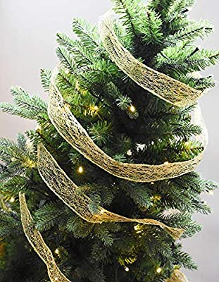 Christmas Tree With Mesh Ribbon Images.2 M Gold Mesh Ribbon Diy Bow Christmas Tree S Buy Online At