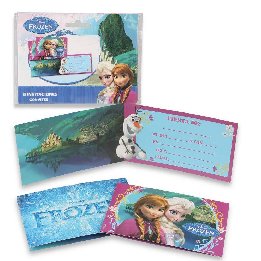 ALMACENESADAN 68371, Pack 6 Invitaciones Dinsey Frozen, sin ...
