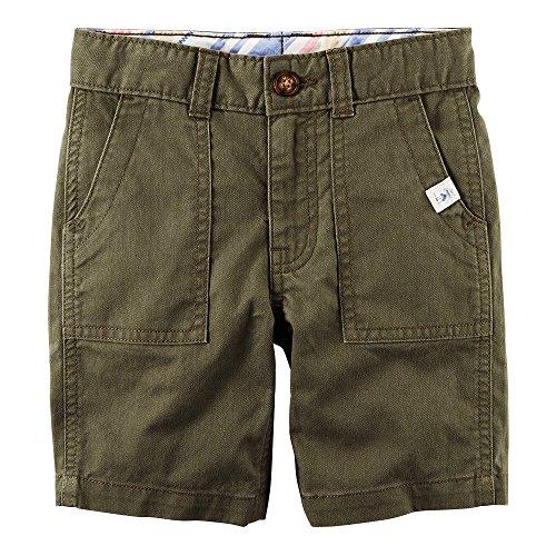 Carter's Boys Pork Chop Pocket Woven Shorts, Olive (5 - Pork Pocket Chop