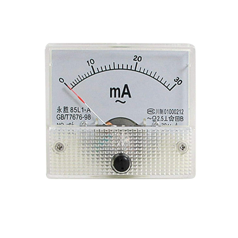 ALONGB Amp/èrem/ètre analogique 85L1-A AC 0-30mA Rectangle Panneau analogique Amp/èrem/ètre