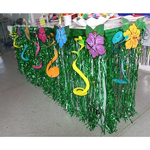 Huplue Decoración de mesa para fiesta hawaiana, mesa de fiesta ...
