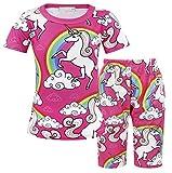 AmzBarley Big Girls' Pajama Sets Unicorn Cute Horse Sleepwears Cartoon Children PJS Age 11-12 Years Size 12