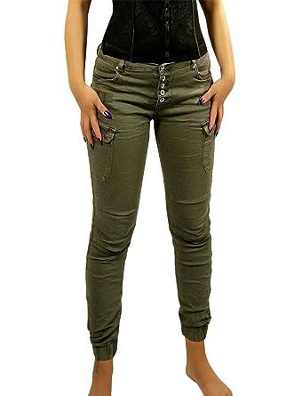 billiger Verkauf Keine Verkaufssteuer Modestile Damen Jogg-Jeans Hose Joggstyle Cargo Safari Army Military ...