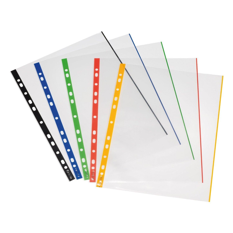 Herlitz 10914414 - Paquete de 50 portafolios de plástico A4, multicolor product image