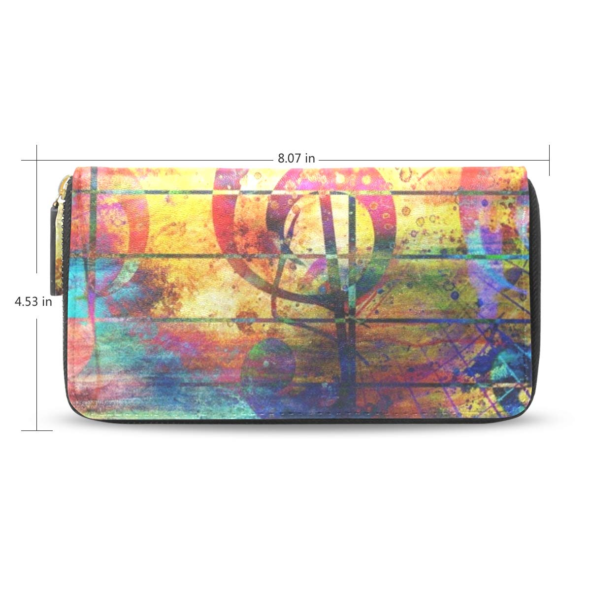 Womens Wallets Vintage Music Note Leather Passport Wallet Change Coin Purse Girls Handbags