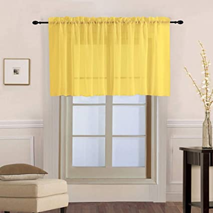 Amazon.com: WPKIRA Kitchen Valance Short Curtains for Bath ...