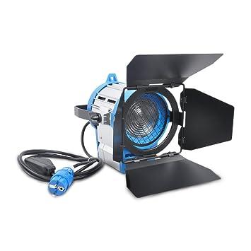 For film 650W Lighting Fresnel Tungsten Spot Light Studio Video+Bulb+Barndoor
